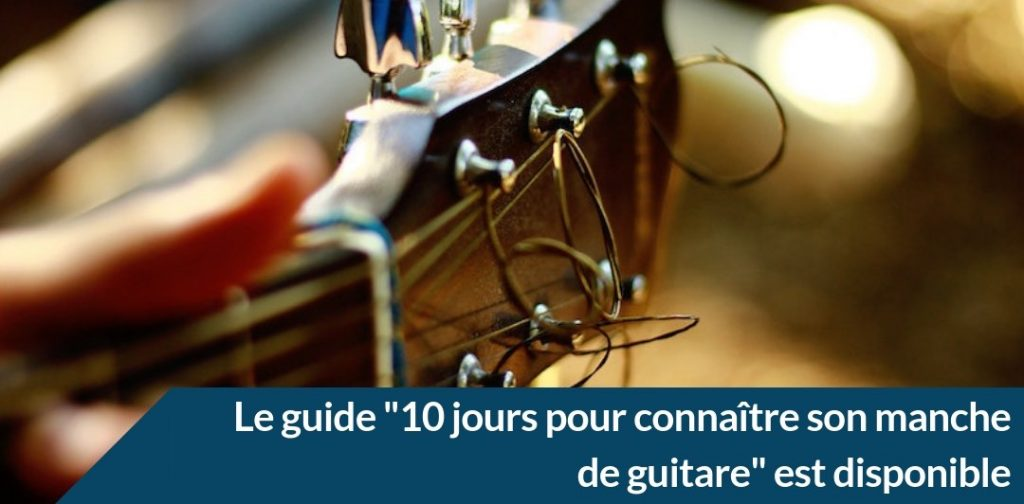 le guide sur le manche de guitare disponible