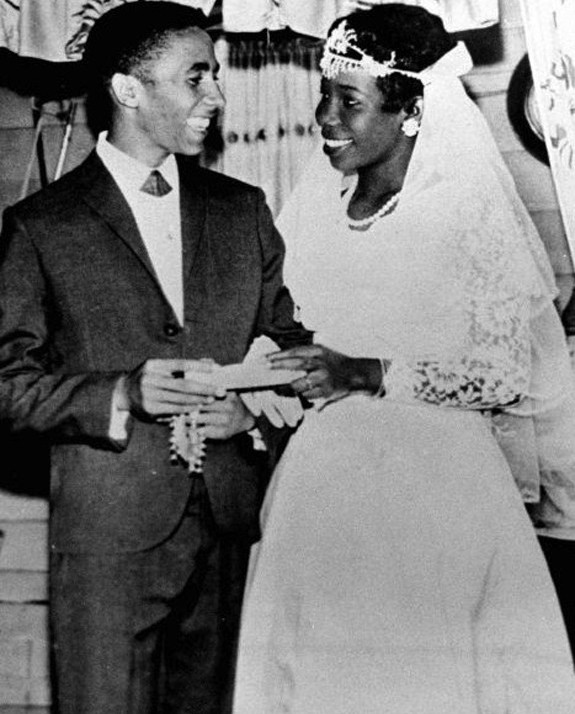 Bob et son épouse, Rita Marley, la little darling de No woman no cry.